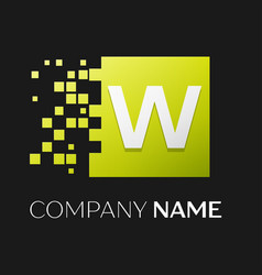 letter w logo symbol in the colorful square vector image