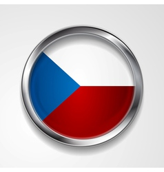 button with stylish metallic frame vector image