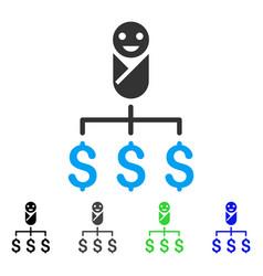 Kid expenses flat icon vector