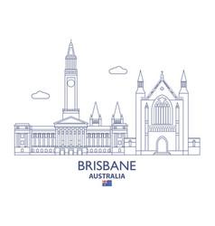 Brisbane city skyline vector
