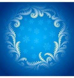 frost pattern frame vector image
