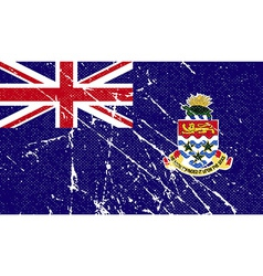 Flag of cayman islands with old texture vector