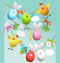 Easter decoration vector