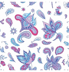 Fresh indian paisley pattern vector