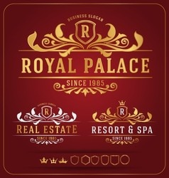 Luxurious royal logo re-sizable design template vector