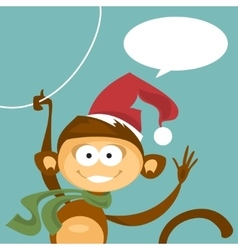 Christmas monkey vector