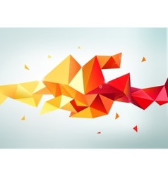 Abstract colorful orange red yellow vector