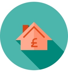 House with pound sign vector