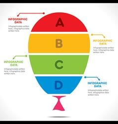 Colorful balloon info-graphics design concept vector