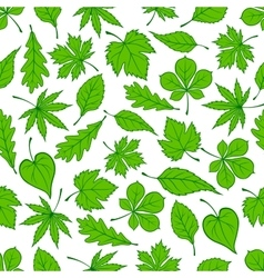 Green tree leaves seamless pattern vector