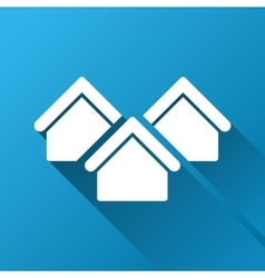 Real estate gradient square icon vector