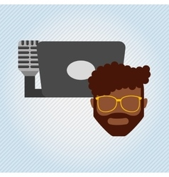 Mobile audio design vector