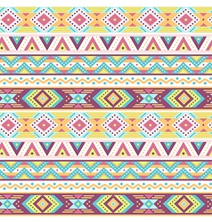 Ethnic pattern tropic white vector