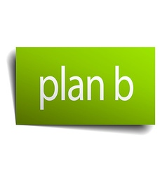 Plan b square paper sign isolated on white vector