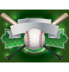 baseball bat label vector image vector image