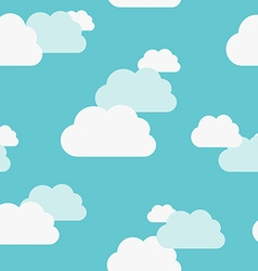 Beautiful clouds seamless pattern vector
