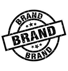 Brand round grunge black stamp vector