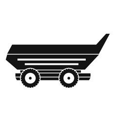 Car trailer icon simple vector