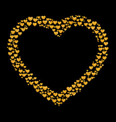 card of glitter golden heart vector image vector image