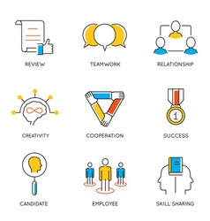 Career progress and business management - 8 vector image