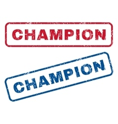 Champion rubber stamps vector