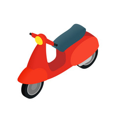 Classic vespa scooter icon isometric 3d style vector