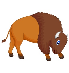 Cute bison cartoon vector