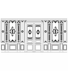 Damask ornamented frames for walls vector
