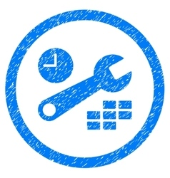 Date and time configuration rounded icon rubber vector