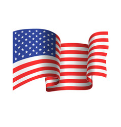 Developing in the wind the american flag vector