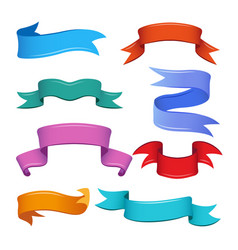 Different banners and ribbons in cartoon style vector