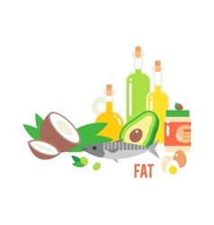 Different kind of healthy fat vector