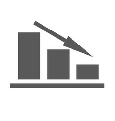 down chart icon simple vector image