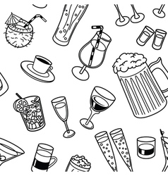 drinks seamless pattern vector image vector image