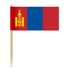 flag of mongolia flag toothpick vector image