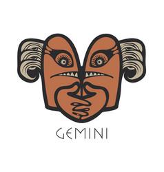 Gemini astrological sign of zodiac vector
