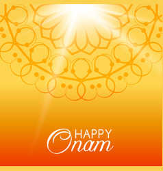 Happy onam greeting card vector