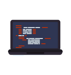 html programming code vector image vector image