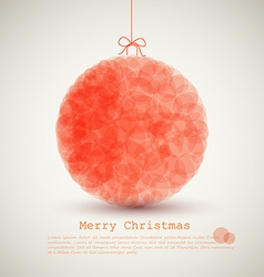 modern card with abstract christmas decoration vector image vector image