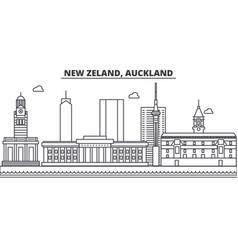 new zeland auckland architecture line skyline vector image