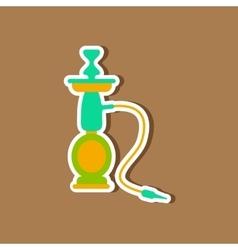 paper sticker on stylish background of smoke vector image