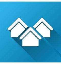 Real estate gradient square icon vector