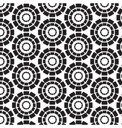 Rectangles connected in circles seamless pattern vector image vector image