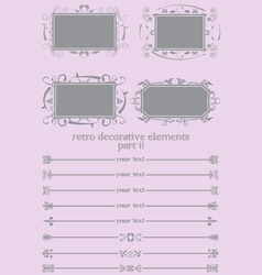 retro decorative elements ii vector image