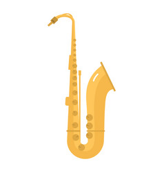 Saxophone icon music classical sound instrument vector