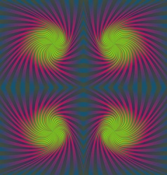 Seamless colorful psychedelic spiral pattern vector