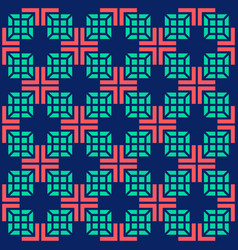 Seamless medical abstract pattern with crosses and vector