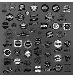 Set of retro vintage labels and ribbons vector image