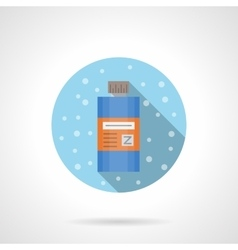 Shower gel round flat color icon vector