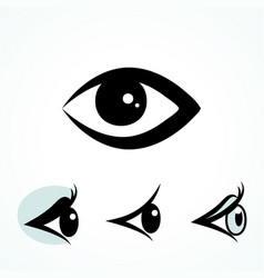 simple eye icon isolated on white background vector image